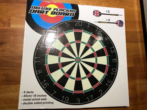 Deluxe Dart Spiel Flocked Board mit Pfeilen