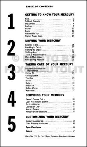 1953 Mercury Owners Manual 53 Custom Monterey Owner User Guide Book