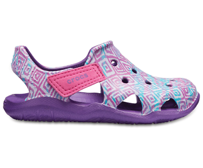 Crocs Kids Swiftwater Wave Graphic lightweight Comfortable Soft Flexible