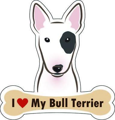 Dog Bone Sticker I Love My Bull Terrier Car Sign Puppy Decal Buy 2 Get 3rd Free Ebay