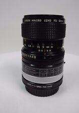 Canon 50mm Macro f/3.5 FD Mount Lens + FD 25-U Extension Tube + EF Adapter