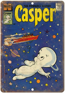 "Casper The Friendly Ghost Harvey Comic 10/"" X 7/"" Reproduction Metal Sign J200"