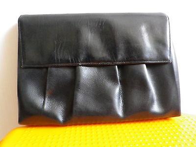 Uralt Clutch Abendtasche Clutchbag Klatsch Vintage Rockabilly Retro älter? black