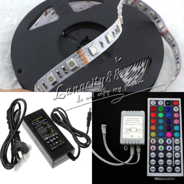 5M 300LED White RGB SMD Flexible Strip Light IR Power Indoor/Outdoor Decor Light