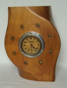WWI-Trench-Art-Fighter-Aircraft-Propeller-Clock-W-Oldsmobile-8-Day-Clock
