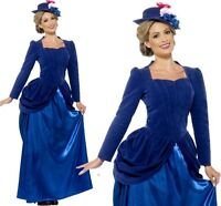 Ladies Victorian Lady Fancy Dress Costume Mary Poppins Outfit New by Smiffys