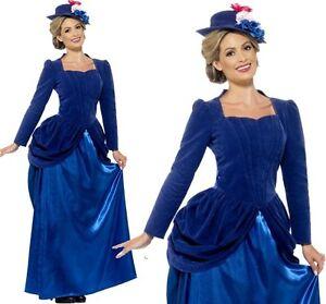 damen viktorianische dame kost m kost m mary poppins outfit neue von smiffys ebay. Black Bedroom Furniture Sets. Home Design Ideas