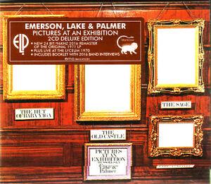 2 CD (NEU!) EMERSON, LAKE & PALMER ELP - Pictures at an Exhibition (+Live mkmbh