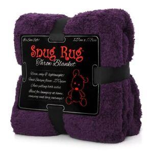 Snug Rug Sherpa Throw Blanket - Purple