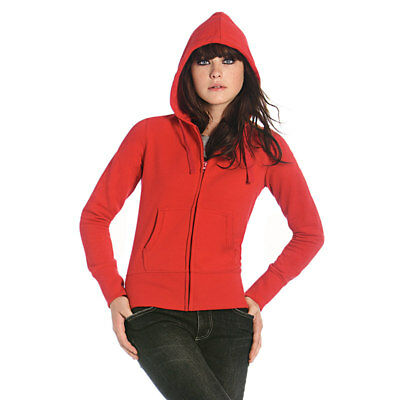 B&c Womens Zip Up Breathable Sweatshirt Jacket Plain Warm Jumper Winter Coat New 100% Garantie