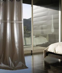 1x luxus vorhang 260 cm lang taft vorh nge gardinen schal gardine beige sen ebay. Black Bedroom Furniture Sets. Home Design Ideas