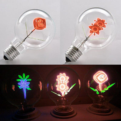 Flower Moon Bulb Edison Retro Filament Light Chrismas Wedding Decor Lamp E27 3W