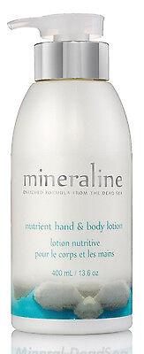 Nutrient Hand & Body Lotion,Creamy Moisturizer Skin, Dead Sea 400ml mineraline
