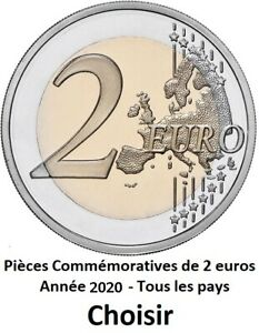 TOUTES LES PAYS DISPONIBLES ANNÉES 2020 - 2 Euros Commemorative - NOUVEAU UNC