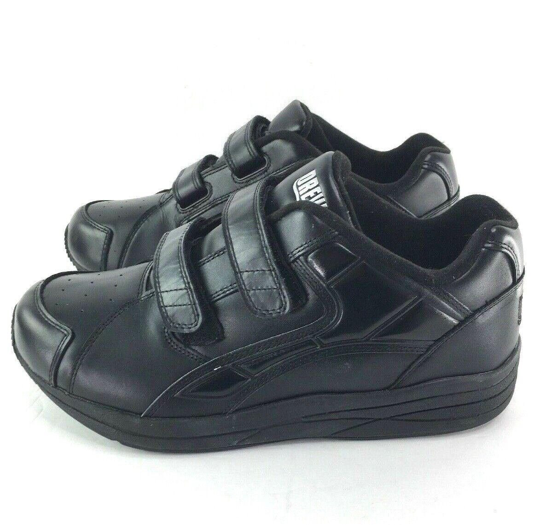 Drew Zapatos Force V Para Hombres 10 W terapéutico diabéticos extra Depth 2 Correa Negro Usado En Excelente Condición