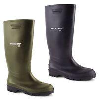 Mens Dunlop Hunting Waterproof Walking Wellies Rain Festival Wellington Boots