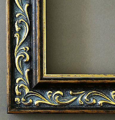 Bilderrahmen Braun Gold Barock Antik Rahmen Holz Verona 44,0 - mit Normalglas