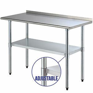 "Restaurant Kitchen Backsplash 24"" x 48"" stainless steel work prep table kitchen restaurant w"