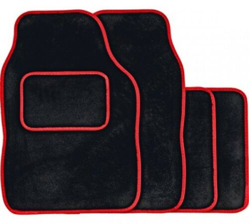 08-15 SKODA SUPERB BLACK /& RED TRIM CAR FLOOR MATS