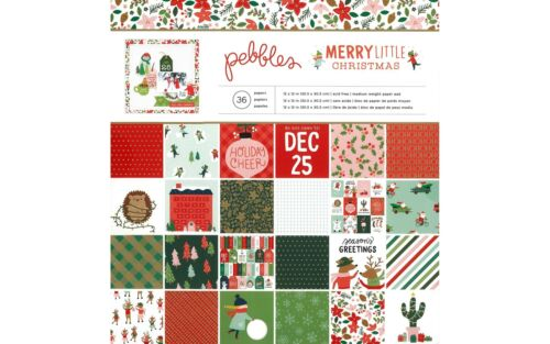 PEBBLES INC 734152  PEBBLES ML CHRISTMAS PAPER PAD 12X12 FOIL GOLD