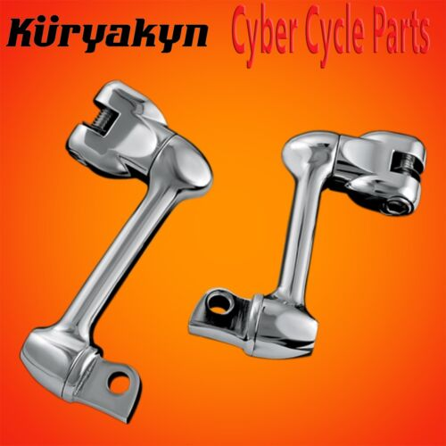 """Kuryakyn Chrome 4/"""" Adjustable Lockable Offsets Without Male Mount Adapters 4557"""