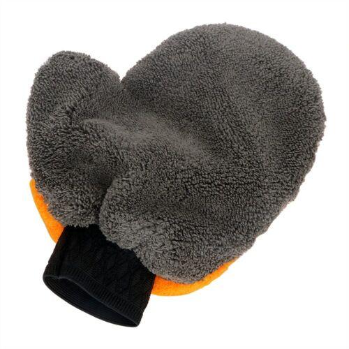 Microfiber Car Wash Mitt Washing Cleaning Glove Dual Sided Plush Soft Clean