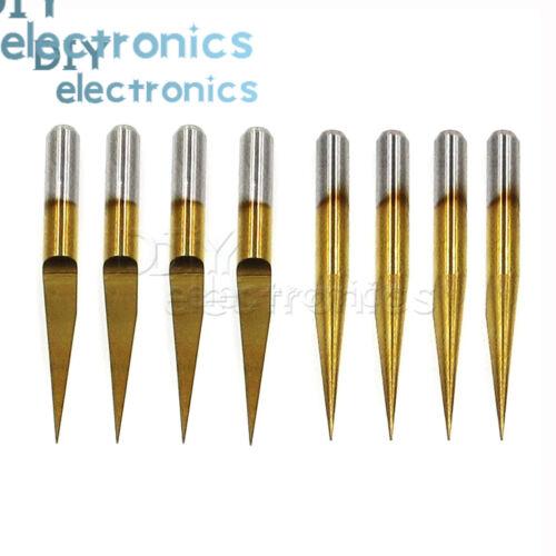 3.175mm Carbide PCB Engraving Bits CNC Router Tool 0.1mm V-Shap L2KD