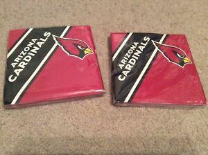 2-New-NFL-Arizona-Cardinals-20pcs-Napkins-Partyware-Party-Supplies