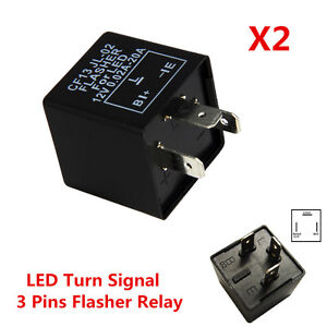 Image Is Loading 2pc 3 Pin Electronic Car Led Flasher Relay