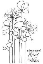 Woodware claro singles Sello de Goma-Long Tall Flores FRS490