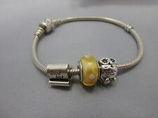schönes Pandora Armband mit 3 Beats Sterling Silber 925 ALE punziert #4
