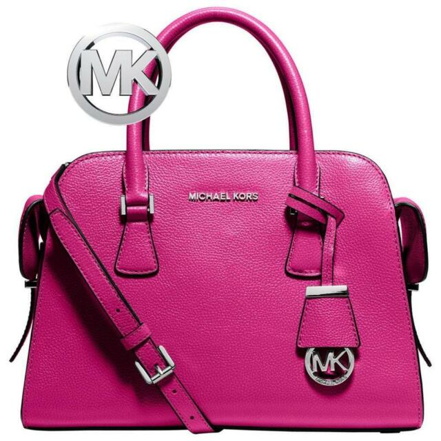 c7e069178ee4 Authentic Michael Kors Harper Raspberry Medium Leather Satchel 30t5srps2l
