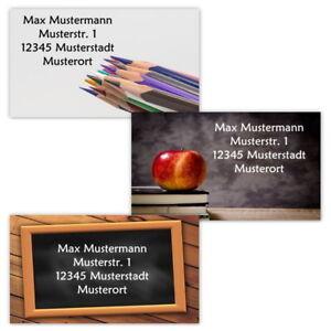 40-Adressetiketten-Adressaufkleber-oder-10-Visitenkarten-Motiv-034-Schule-034