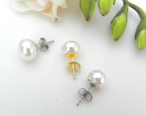 Studs Freshwater Pearls Top Also with Wg or Gg Earwires 2984