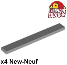 Light Bluish Gray Tile 1x1 with Groove Lego x 6 3070b NEUF