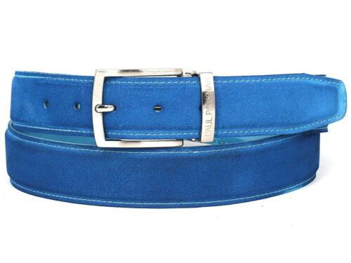 ID#B06-BLU PAUL PARKMAN Men/'s Blue Suede Belt