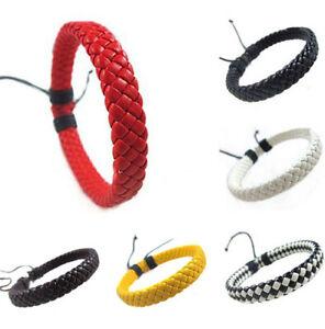 Bracelet-Simili-Cuir-Tresse-Pour-Ado-Fille-Garcon-Homme-Femme-Ajustable-Mode
