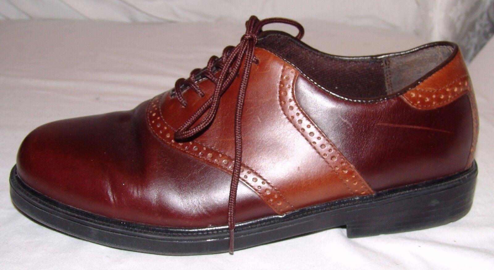 Nunn Bush Brown Saddle M Shoes Mens 11 1/2 M Saddle 11.5 Dress Leather Wing Tip 71f100