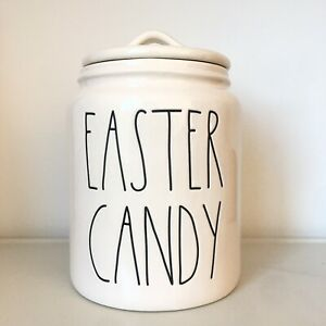 New-Rae-Dunn-EASTER-CANDY-Large-Letter-LL-Medium-Sized-Canister