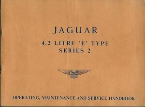 JAGUAR-E-Type-2-Series-Betriebsanleitung-Operating-Maintenance-Handbook-BA