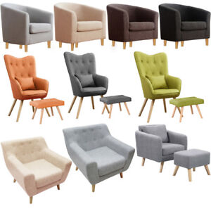 Attirant Image Is Loading Upholster Livingroom Arm Wing Back Accent Chairs Tub
