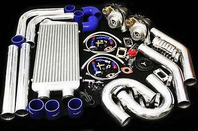 T3/T4 TWIN TURBO CHARGER KIT 800HP FOR NISSAN 350Z Z33 VQ35DE 370Z Z34 NISMO V6