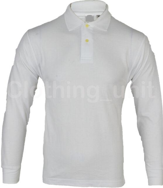 Mens Long Sleeve Pique Polo Shirt Top Warm S M L XL XXL