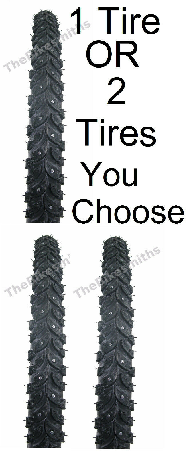 1 or 2Pak Nokian Suomi TR7117 Hakka 700 X 35  or 45 Winter  Ice Studded Bike Tire  exclusive designs
