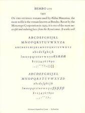 New Letterpress Type 10pt Bembo