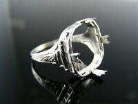 5506 Ring Setting Sterling Silver, Size 7, 12x12 Mm Cabochon Square