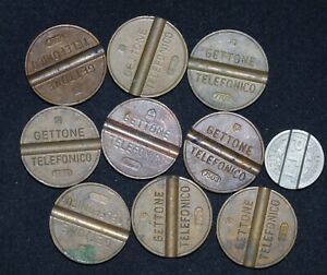 Italy France Telephone Token Coins Lot 10 Telecommunications Auction From 1 Ebay