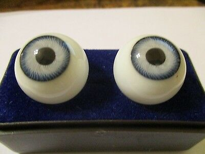 16 m Vintage Lavender Glasaugen Glass Eyes 9.5 mm Iris W Germany Doll Mannequin