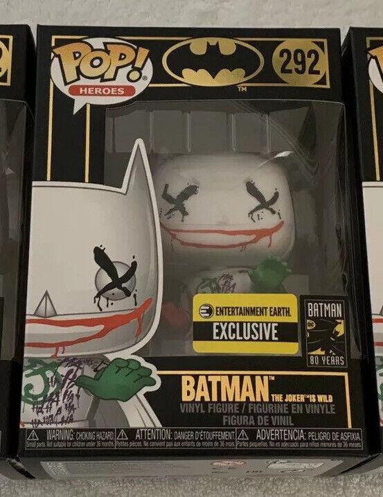 Funko Pop BATMAN THE JOKER IS WILD  292 EE Exclusive BRAND NEW Free Shipping