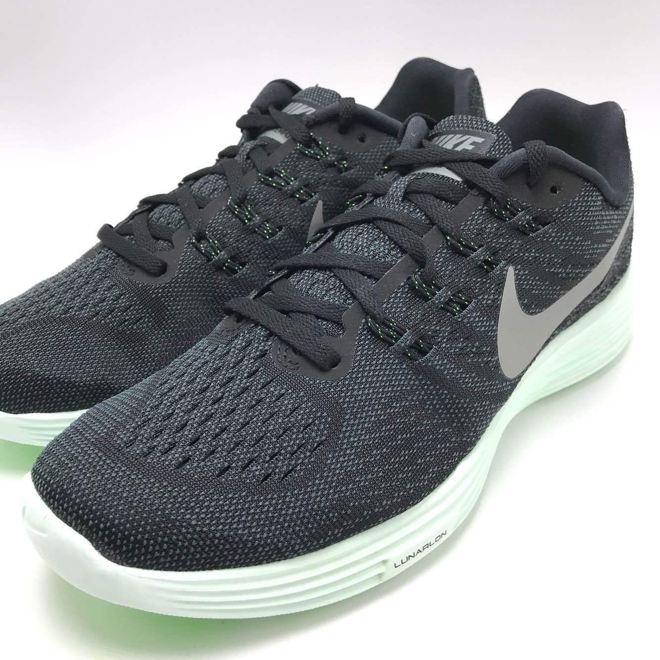 Nike Lunartempo 2 LB Black / Green Men's Running Trainer Shoes 828659-003